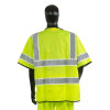 Alpha Workwear Class 3 Hi Vis Illuminated Glow in the Dark Safety Vest A220 Back