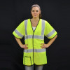 Alpha Workwear Class 3 Hi Vis Illuminated Glow in the Dark Safety Vest A220 In Use