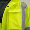 Alpha Workwear Class 3 Hi Vis Glow in Dark Bomber Jacket A262 Pocket