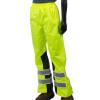 Alpha Workwear Class E Hi Vis Glow in Dark Illuminated Rain Pants A266 Front