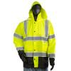 Alpha Workwear Class 3 Hi Vis Illuminated Glowing Hi Vis Rain Safety Jacket A268 Front