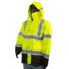 Alpha Workwear Class 3 Hi Vis Illuminated Glowing Hi Vis Rain Jacket A268 Side