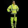 Alpha Workwear Class 3 Hi Vis Illuminated Glowing Hi Vis Rain Jacket A268 with Pants