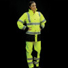 Alpha Workwear Class 3 Hi Vis Illuminated Glowing Hi Vis Rain Jacket A268 with Pants
