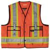 Work King Safety Class 2 Hi Vis Two-Tone X-Back Surveyor Safety Vest S313 Fluorescent Orange Front