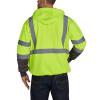 Utility Pro Class 3 Hi Vis Yellow Black Bottom Full Zip Hoodie with Teflon Protector UHV425 Back