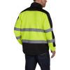 Utility Pro Class 3 Hi Vis Yellow Black Bottom Jacket with Teflon Protector UHV427 Back