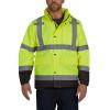 Utility Pro Class 3 Hi Vis Yellow Premium Rain Jacket with Teflon Protector UHVR642 Front