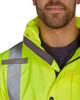 Utility Pro Class 3 Hi Vis Yellow Premium Rain Jacket with Teflon Protector UHVR642 Collar