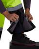 Utility Pro Non-ANSI Hi Vis Yellow Waterproof Pants with Teflon Protector UHV452P Zipper Leg