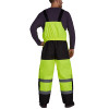 Utility Pro Non-ANSI Hi Vis Yellow Lined Bib Overalls with Teflon Protector UHV500 Back