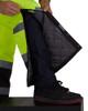 Utility Pro Non-ANSI Hi Vis Yellow Lined Bib Overalls with Teflon Protector UHV500 Zipper Leg