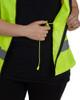 Utility Pro Class 2 Hi Vis Yellow Adjustable Ladies Vest with Teflon Protector UHV662 Adjustment