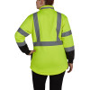 Utility Pro Class 2 Hi Vis Yellow Ladies Black Bottom 1/4 Zip Pullover with Teflon Protector UHV667 Back