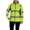 Utility Pro Class 2 Hi Vis Yellow Ladies Soft Shell Jacket with Teflon Protector UHV668 Front