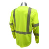 Radians Class 3 Hi Vis Green RADCOOL T-Shirt with Segmented Tape ST31-3PGS Back