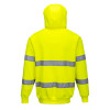 PortWest Class 3 Hi Vis Yellow Hooded Sweatshirt B304