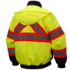 Pyramex Class 3 X-Back Hi Vis Two-Tone Lime Jacket RCJ3210 Back