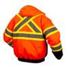 Pyramex Class 3 Hi Vis X-Back Two-Tone Orange Black Bottom Jacket RCJ3220 Back