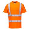 PortWest Class 2 Hi Vis Orange Cotton Comfort T-Shirt with 35 UPF Protection S170 Front
