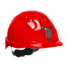 PIP Evolution Deluxe 6151 Made in USA Standard Brim Mining Hard Hat 280-EV6151M - Box of 10 Red