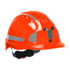PIP Evolution Deluxe 6151 Made in USA Standard Brim Mining Hard Hat with Reflective Kit 280-EV6151MCR2-10BOX Neon Orange