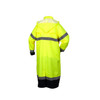 Pyramex Class 3 Hi Vis Lime Black Bottom Trim Raincoat RRWC3110 Back