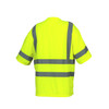 Pyramex Class 3 Hi Vis Lime Moisture Wicking T-Shirt with Chest Pocket RTS3410 Back