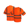 Pyramex Class 3 Hi Vis Orange Moisture Wicking T-Shirt with Chest Pocket RTS3420 Front/Back