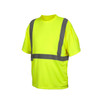 Pyramex Class 2 Hi Vis Lime Moisture Wicking T-Shirt RTS2110NP Front