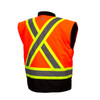 Pyramex Class 3 Hi Vis Orange Two-Tone X-Back Black Bottom Trim 7-in-1 Parka RC7P3520 Inner Vest Back