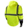 Radians Class 3 Hi Vis Green Black Bottom Hooded Sweatshirt SJ32-3ZGS Back
