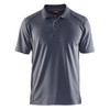 Blaklader Moisture Wicking Short Sleeve Grey Polo Shirt with UPF 40 Protection 345110519400 Front