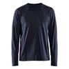 Blaklader Navy Blue Long Sleeve T-Shirt 355910428600 Front