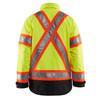 Blaklader Class 3 Hi Vis Two-Tone X-Back Yellow Black Bottom Winter Jacket 492819773399 Back