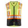 Blaklader Class 2 Hi Vis Two-Tone X-Back Yellow Black Bottom Safety Vest 313310543399 Front