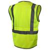 Radians Class 2 Hi Vis Green Black Bottom Mesh Surveyor Safety Vest SV7B-2ZGM Back