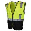 Radians Class 2 Hi Vis Green Black Bottom Mesh Surveyor Safety Vest SV7B-2ZGM Side Profile