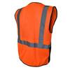 Radians Class 2 Hi Vis Orange Black Bottom Mesh Surveyor Safety Vest SV7B-2ZOM Back