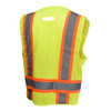 Radians Class 2 Hi Vis Green Black Bottom Two-Tone Surveyor Safety Vest SV6B-2ZGD Back