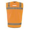 Occunomix Class 2 Hi Vis Black Bottom Mesh Surveyor Vest LUX-LTGCSBK Orange Back