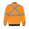 Occunomix Class 3 Hi Vis X-Back Crew Neck Sweatshirt with Black Trim LUX-CSWTX Orange Back