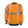 Occunomix Class 3 Hi Vis X-Back Crew Neck Sweatshirt with Black Trim LUX-CSWTX Orange Front