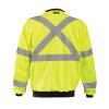 Occunomix Class 3 Hi Vis X-Back Crew Neck Sweatshirt with Black Trim LUX-CSWTX Yellow Back
