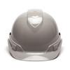 Box of 16 Pyramex Ridgeline Cap Style 4-Point Ratchet Hard Hats HP44112 Gray Front