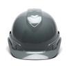 Box of 16 Pyramex Ridgeline Cap Style 4-Point Ratchet Hard Hats HP4413 Slate Gray Front