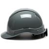 Box of 16 Pyramex Ridgeline Cap Style 4-Point Ratchet Hard Hats HP4413 Slate Gray Side Profile
