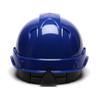 Box of 16 Pyramex Ridgeline Cap Style 4-Point Ratchet Hard Hats HP44160 Blue Back