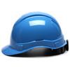 Box of 16 Pyramex Ridgeline Cap Style 4-Point Ratchet Hard Hats HP44162 Light Blue