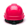 Box of 16 Pyramex Hi Vis Ridgeline Cap Style 4-Point Ratchet Hard Hats HP44170 Hi Vis Pink Back